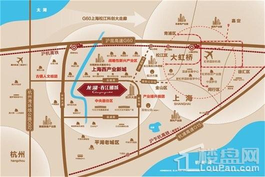 龙湖·春江郦城交通图