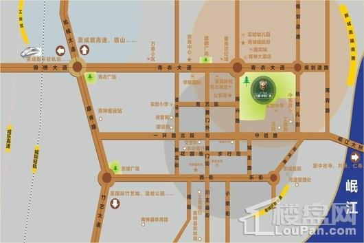 万景中岩广场交通图
