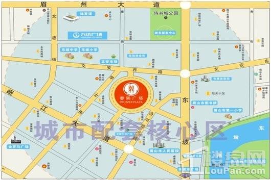春熙广场交通图