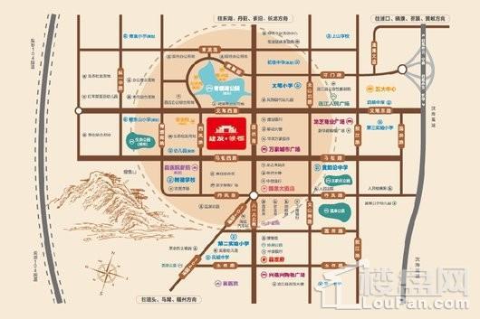 建发领郡交通图