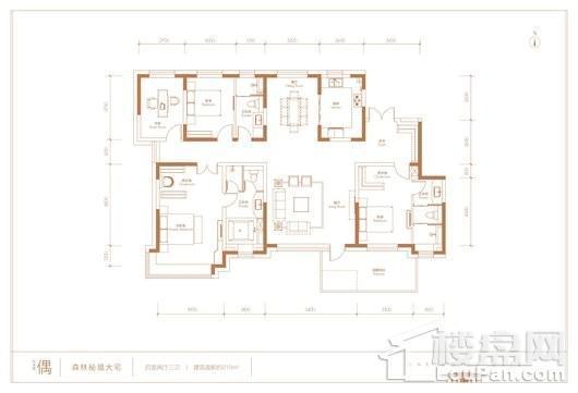 世界1號森林秘境大宅偶户型 4室2厅3卫1厨