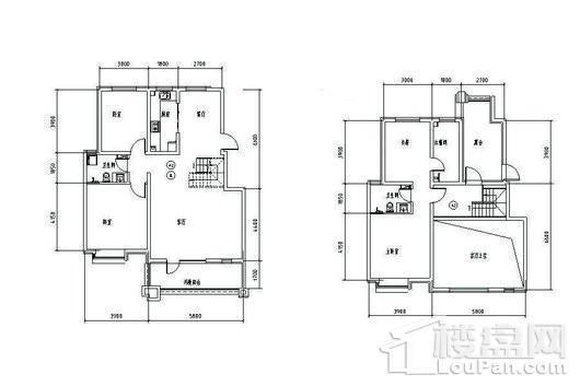 鹿泉健康城四期23#184平四室户型 4室2厅2卫1厨