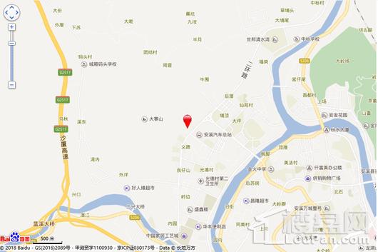 碧桂园溪江月交通图