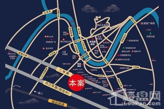 新景龍华城交通图
