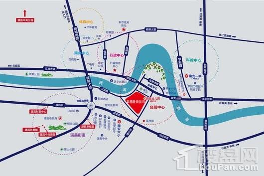 源昌盛景湾交通图