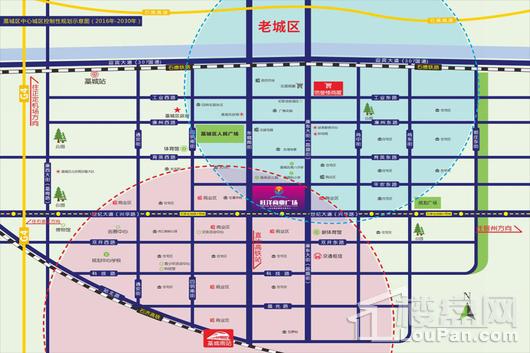 旺洋商业广场交通图