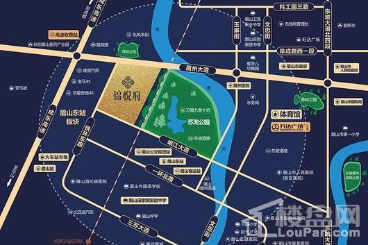 金沙城锦悦府交通图