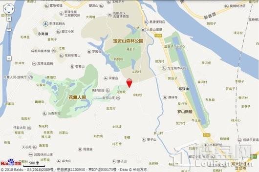 雍景澜庭交通图