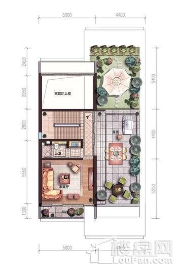 碧桂园中央半岛独栋B户型三层户型图 6室5厅7卫2厨