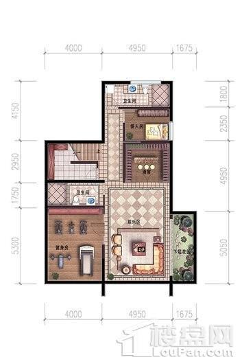 碧桂园中央半岛独栋A户型负一层 6室4厅6卫2厨