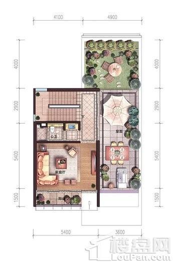 碧桂园中央半岛独栋A户型三层户型图 6室4厅6卫2厨