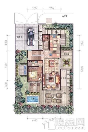 碧桂园中央半岛独栋A户型一层 6室4厅6卫2厨