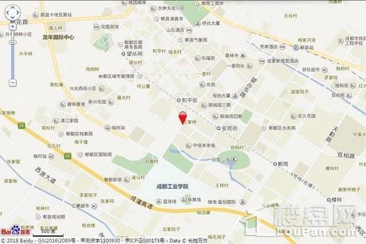 成都鑫苑城交通图