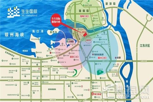生生国际购物中心交通图