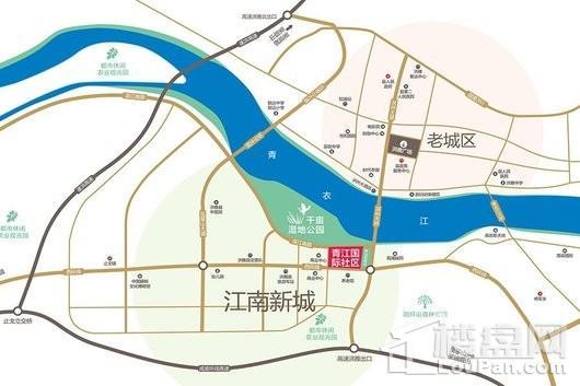 青江国际社区交通图