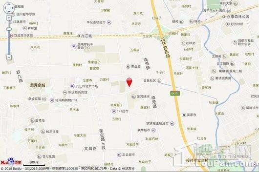 金太阳江安湖1号交通图