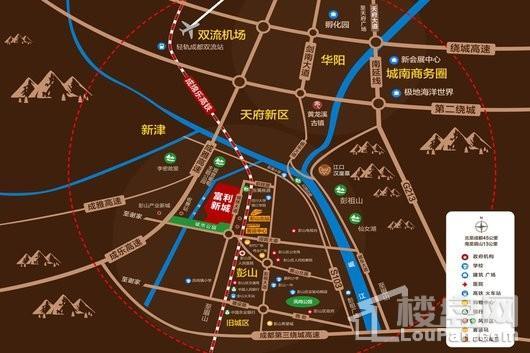 富利新城交通图