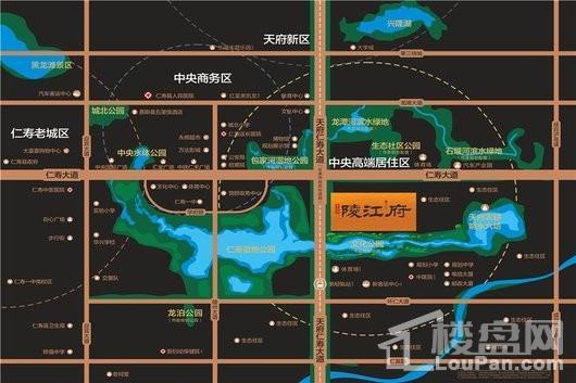 碧桂园陵江府交通图