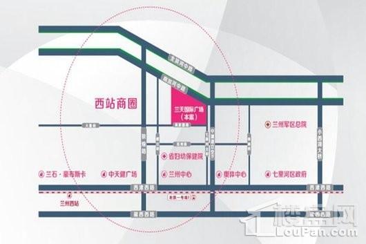 兰天国际广场交通图