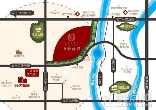 中梁首府交通图