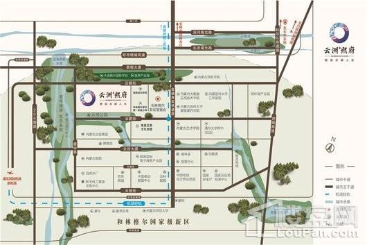 云洲熙府交通图