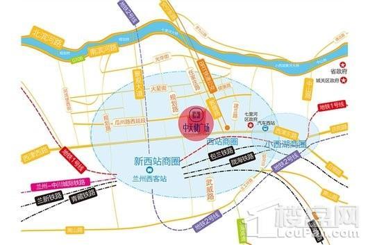 兰州中天健广场交通图