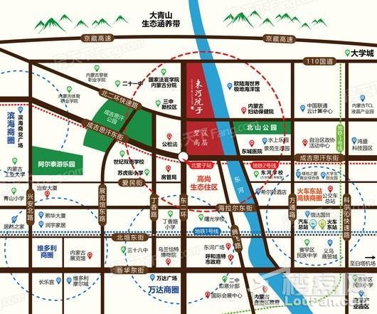 东河·院子交通图