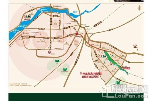 兰州大名城交通图
