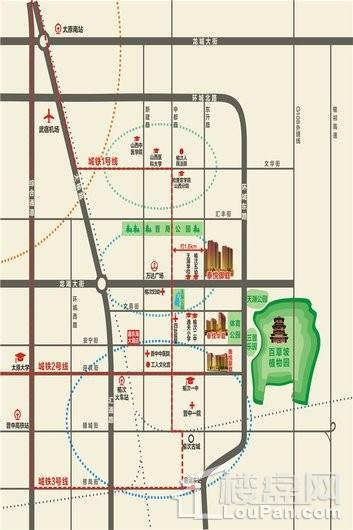 泰悦御庭交通图