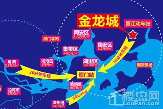 晋江金龙城交通图