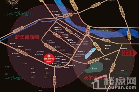 南安世茂璀璨天城交通图