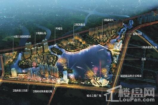 晋江世茂御龙湾项目鸟瞰图
