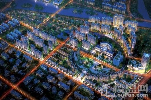 滨海新城总规划夜景图