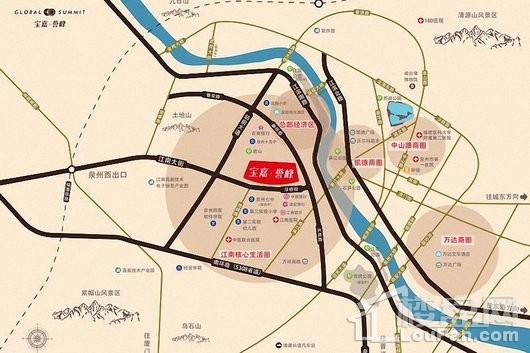 泉州宝嘉誉峰交通图