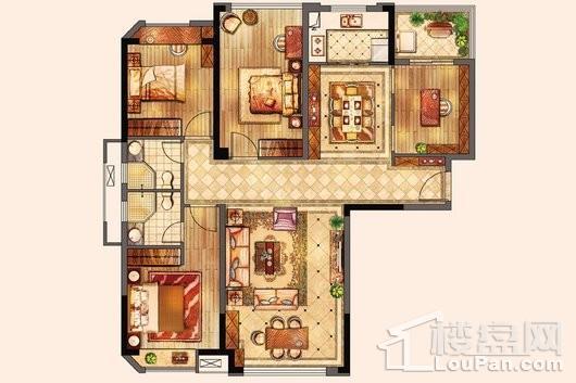 百宏御墅香堤2#3#5#-122㎡ 4室2厅2卫1厨
