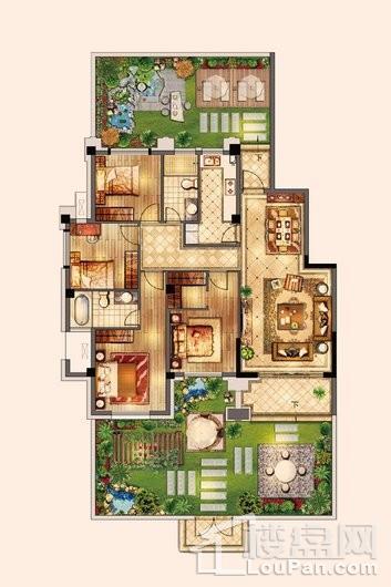 百宏御墅香堤洋房143㎡ 4室2厅2卫1厨