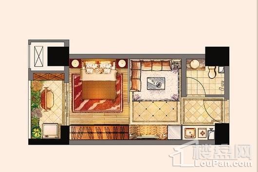 百宏御墅香堤1#-37㎡ 1室1厅1卫1厨