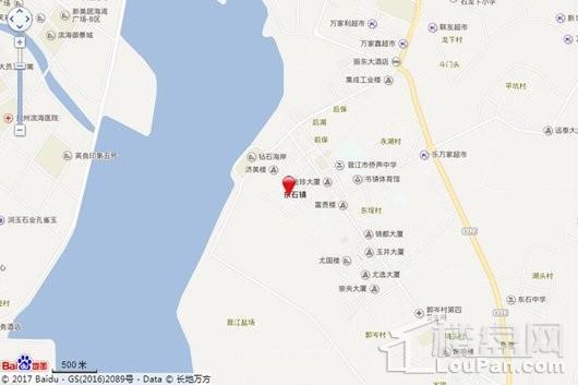 宝业天宸湾交通图