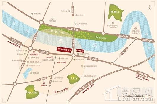 丽水湾畔优家交通图