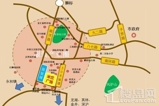 百德米兰广场区位图