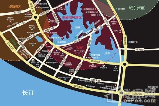 黄州书院交通图