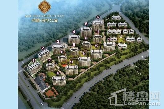 鸿鼎·南悦名城俯视