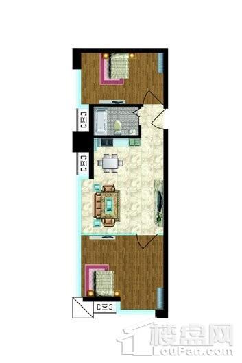 金河国际公寓户型图