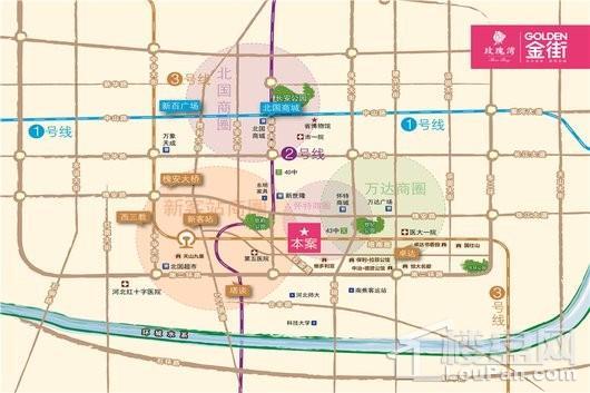 玫瑰湾金街交通图