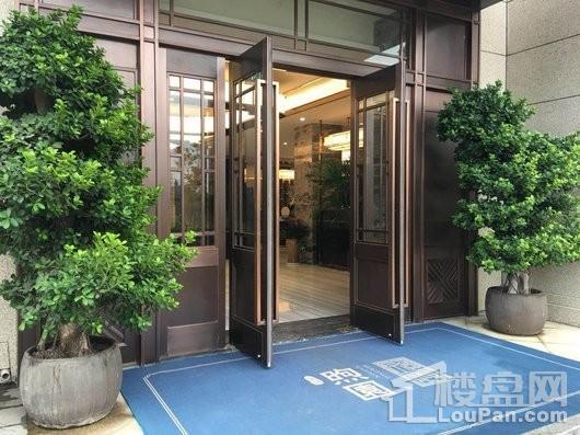 润江煦园售楼处大门入口拍摄
