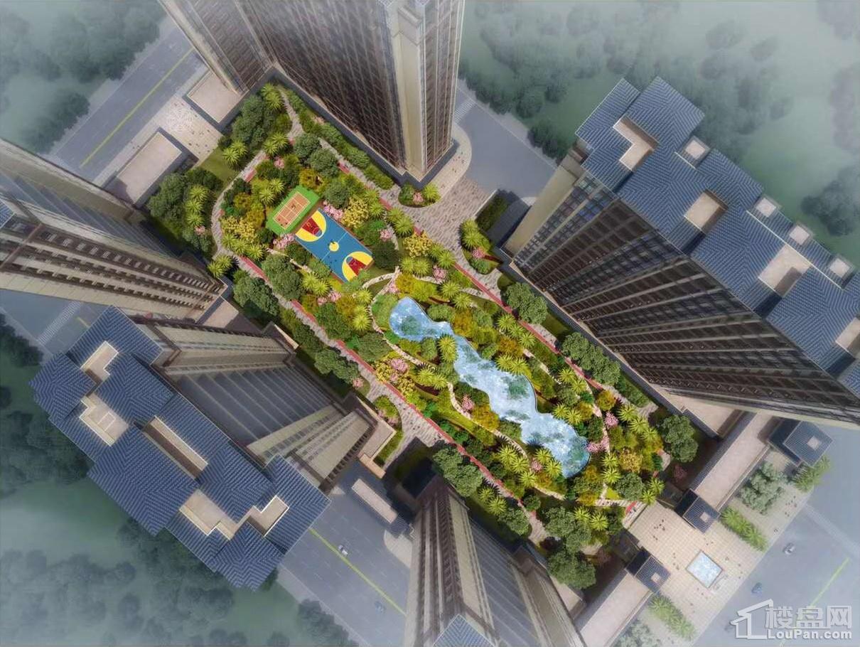 奥林匹克花园鸟瞰图