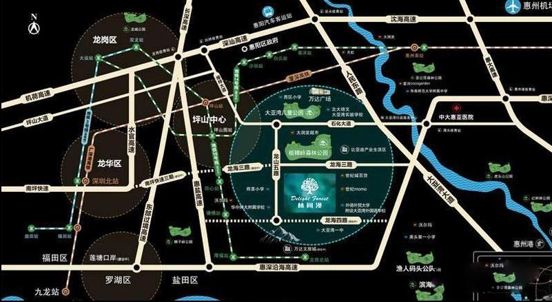 中南林间漫位置图