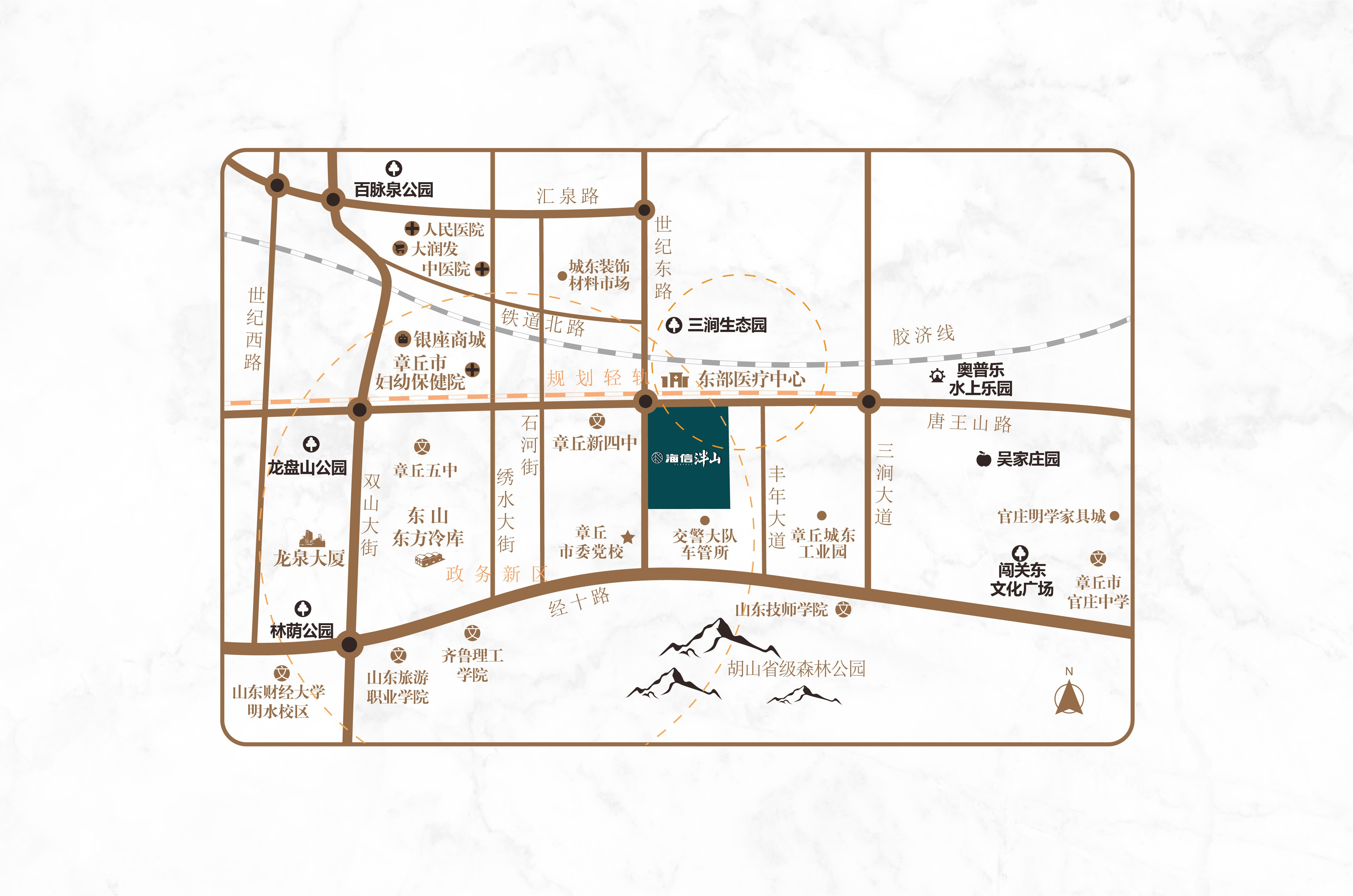 海信泮山位置图