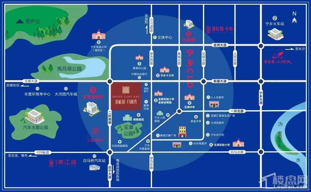 碧桂园·月湖湾位置图