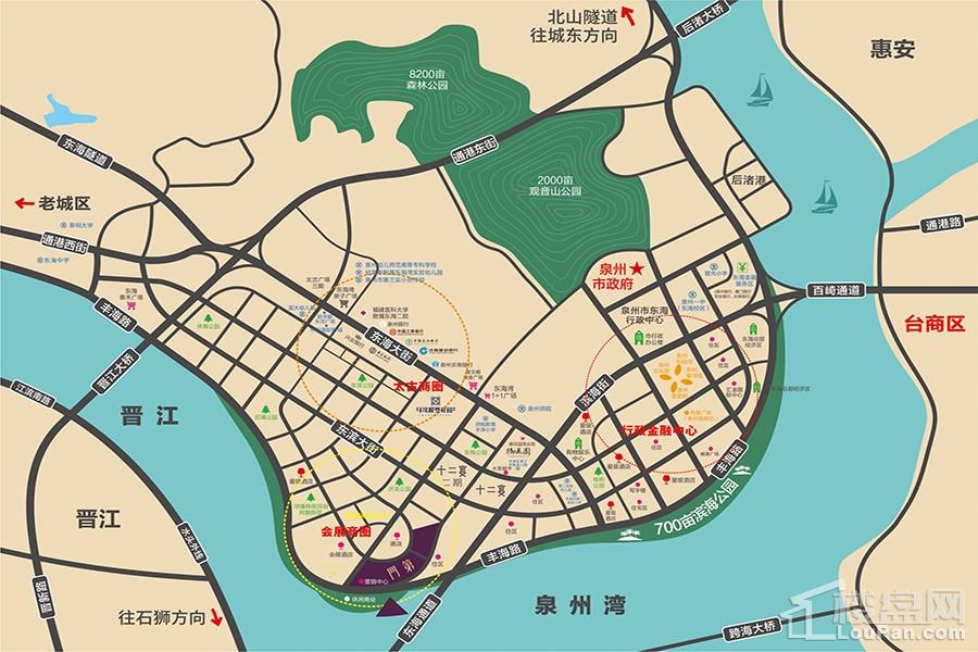 东海湾门第区位图